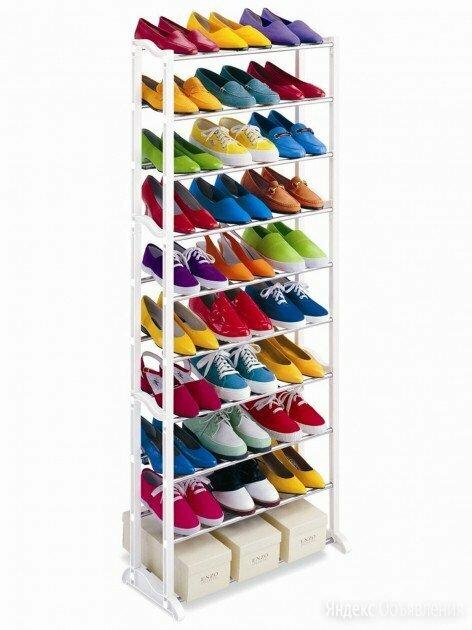 Обувница на 30 пар обуви, белая по цене 850₽ - Обувницы, фото 0