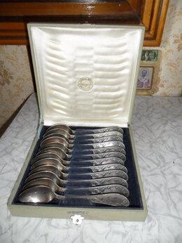 Столовые приборы - Ложки чайные из мельхиора, 12 шт. в родной…, 0