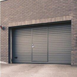 Заборы и ворота - Промышленные ворота 5х4м с калиткой , 0