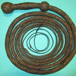 Конный спорт - Кнут кожа (сыромять) Snake Whip 4,99 м, 0