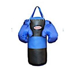 Тренировочные снаряды - Набор для бокса: груша цилиндр 60 см х Ø25 см.…, 0