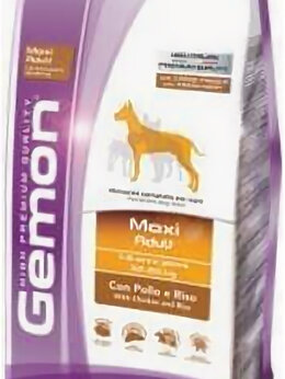 Корма  - Корм Gemon Dog Maxi для собак крупных пород курица, 0
