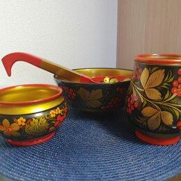 Сервизы и наборы - Набор посуды с хохломской росписью. Вариант 1 , 0