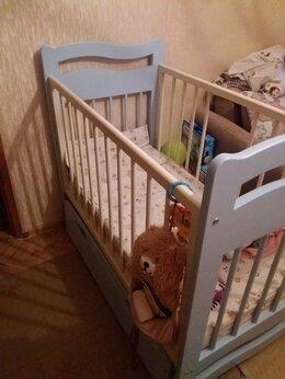 Кроватки - Детская кроватка + стульчик для кормления, 0