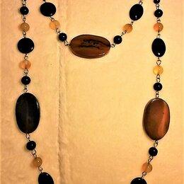 Колье и бусы - Колье-бусы-ожерелье с агатами, 0