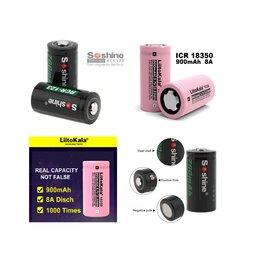 Батарейки - Аккумуляторы 16340 (RCR123) 18350, 0