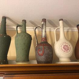 Посуда - Кувшины, бутылки глиняные. Коллекционные., 0