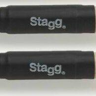 Электрические зубные щетки - Stagg SBRU10-WN - Барабанные нейлоновые щетки с черными деревянными ручками, 0