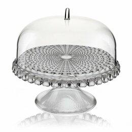 Блюда и салатники - Тортовница круглая 30 см серая Tiffany S, 0