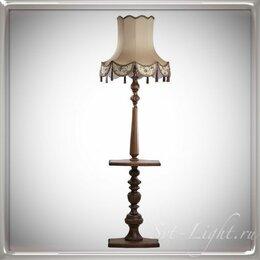 Торшеры и напольные светильники - Торшеры напольные классика из дерева, купить торшер в магазине, 0