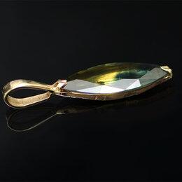 Кулоны и подвески - Подвеска золотая с натуральный сапфиром, 0