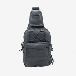 Сумки - Тактическая сумка через плечо черная, 0