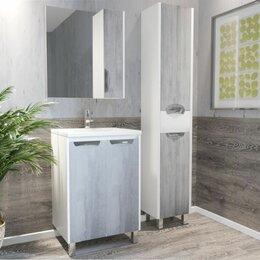 Стеллажи и этажерки - Зеркало со шкафчиком COROZO ЧИКАГО R 650*700*155мм, 0
