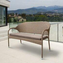 Плетеная мебель - Плетеный диван S70B-W56 Light Brown, 0