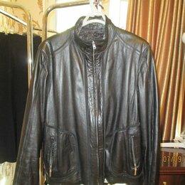 Куртки - Кожаная куртка мужская 60-62 размера, 0