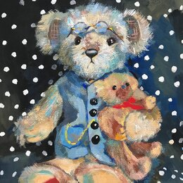 Картины, постеры, гобелены, панно - Картина: «Мишки», 0