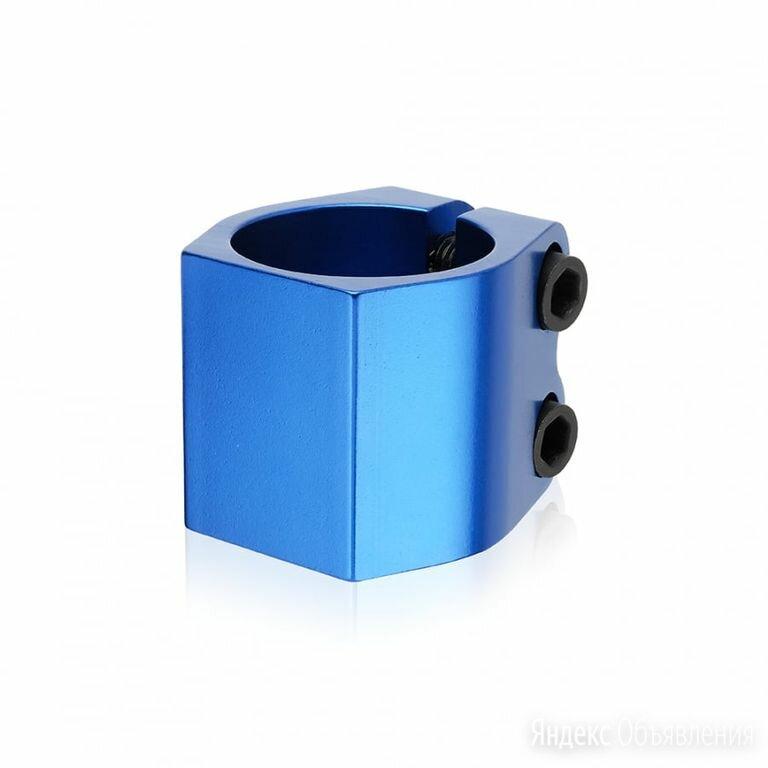 Хомут HIPE X8 HIC 2-х болтовый, М6 разбор Синий по цене 1000₽ - Защита и экипировка, фото 0