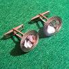 Запонки круглые, камень сверкает, времен СССР по цене 4000₽ - Запонки и зажимы, фото 4