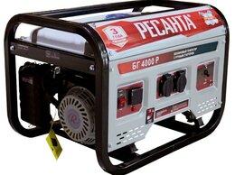 Электрогенераторы - Генератор бензиновый БГ 4000 Р Ресанта, 0