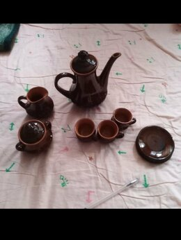 Посуда - Кофейный глиняный сервиз, 0