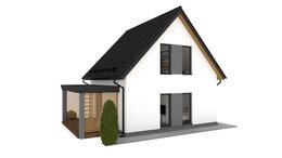 Готовые строения - Дачный дом из газобетона 80 м.кв., 0