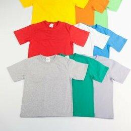 Футболки и майки - новые однотонные футболки размеры от 98 до 134, 0