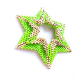 Кулоны и подвески - Кулон Звезда салатовая, 0