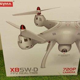 Квадрокоптеры - Квадрокоптер Syma X8SW-D с FPV трансляцией Wi-Fi, барометр 2.4G RTF, 0