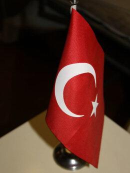 Флаги и гербы - Настольный Турецкий флаг, 0