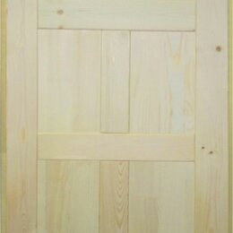 Межкомнатные двери - Дверь 60*2000 деревянная 7 филенок (по полотну) ПГФ, 0