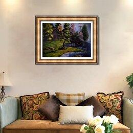 """Картины, постеры, гобелены, панно - """"Дом у озера"""", 0"""