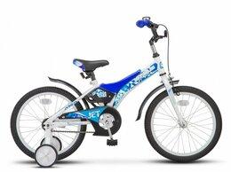 Велосипеды - Детский велосипед STELS Jet 18 Z010 белый/синий…, 0