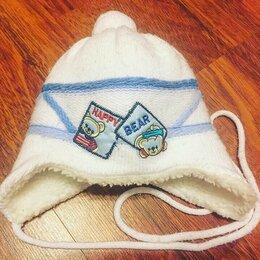 Головные уборы - Шапка малышу размер 40-42 тёплая, 0