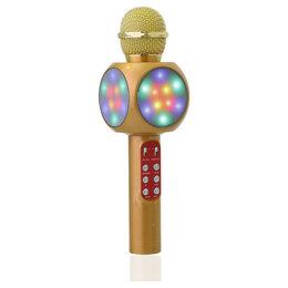 Микрофоны - Беспроводной караоке микрофон WS-1816 Gold, 0
