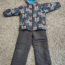 Комплекты верхней одежды - Костюм весна-осень, шапка-шлем и варежки, р. 116, полуботинки, 0