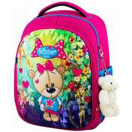 Рюкзаки, ранцы, сумки - Ранец Winner One 6011 + брелок мишка, 0