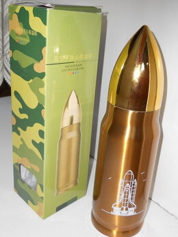 Термосы и термокружки - термос в виде снаряда. Золотистый, новый.…, 0
