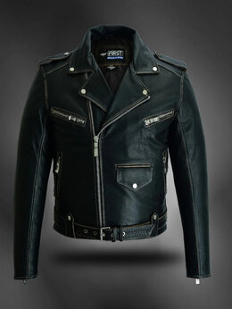 Куртки - First M 781 BRO косуха мужская кожаная, 0
