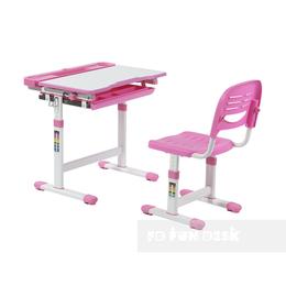 Компьютерные и письменные столы - Парта-трансформер детская со стулом розовая…, 0
