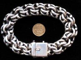 Браслеты - Массивный серебряный браслет бисмарк.Вес 154…, 0