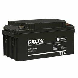 Аккумуляторные батареи - Батарея аккумуляторная Delta DT 1265, 0