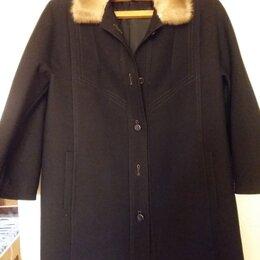 Пальто - Пальто драповое тёплое чёрное (Чехословакия), 0