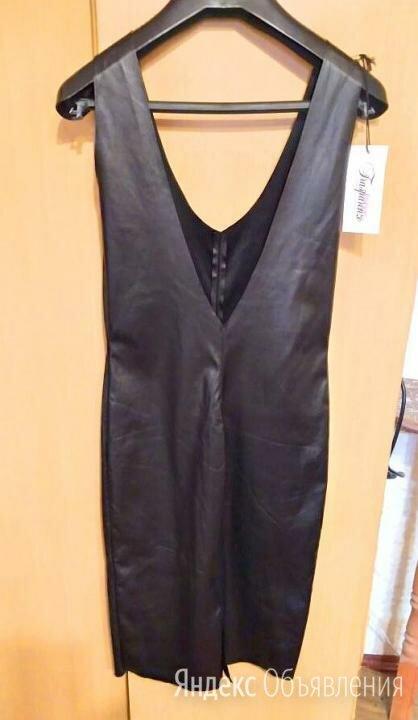 Платье из тонкой эко кожи, размер 42 по цене 1000₽ - Платья, фото 0