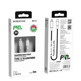 Зарядные устройства и адаптеры - Кабель Type-C to Lightning PD 18W 3A, 0