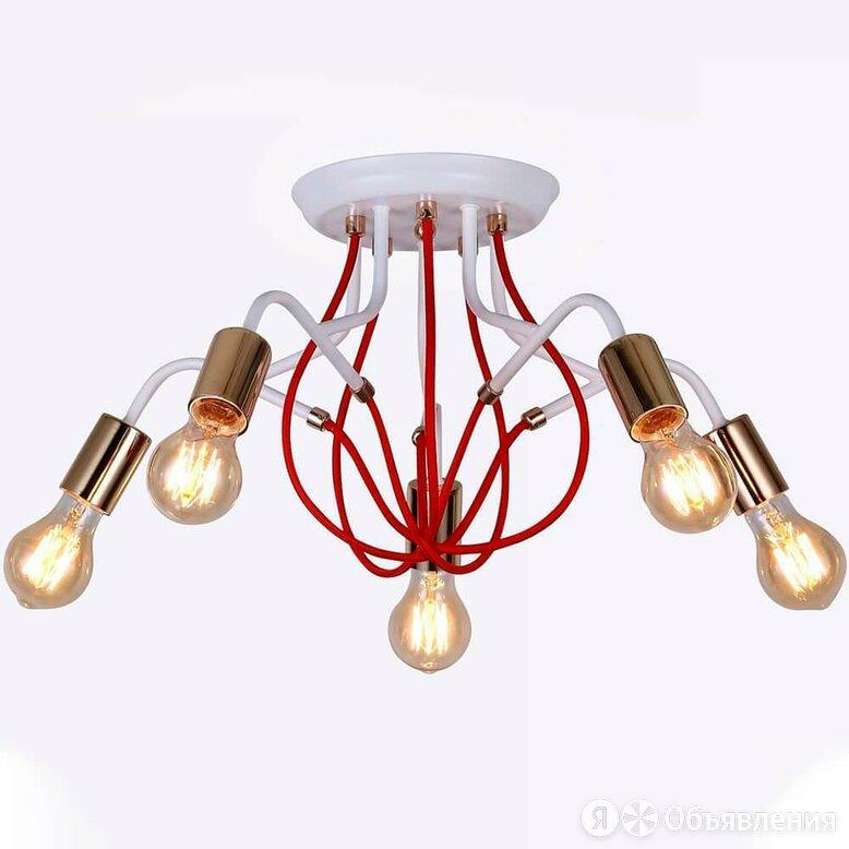Люстра потолочная белая Candella H001-5 по цене 1886₽ - Люстры и потолочные светильники, фото 0