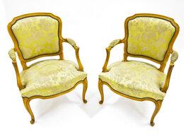 Кресла - Пара открытых мягких кресел в стиле рококо., 0
