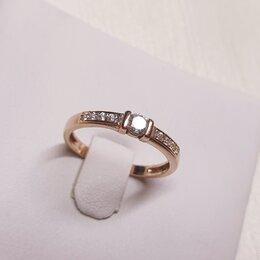 Кольца и перстни - Золотое колечко с фианитами , 0