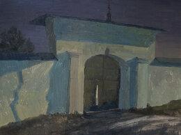 """Картины, постеры, гобелены, панно - Картина маслом """"Ворота Мирожского монастыря"""", 0"""