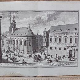 Гравюры, литографии, карты - гравюра Кирха святого Николая, Германия, 18 век, 0