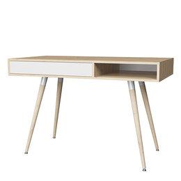 Столы и столики - Смарт 1 стол (дуб ирландский/ белый), 0
